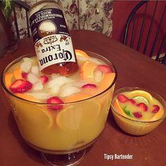 Tropical Fishbowl Margarita! For the recipe, visit us here: www.TipsyBartender.com