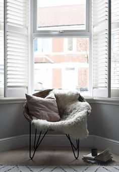 Give your living room a lift with our range of window shutters. Wooden Window Shutters, Wooden Windows, Window Frames, Cafe Style Shutters, Types Of Shutters, Window Treatments Living Room, Living Room Windows, Open Window, Bay Window