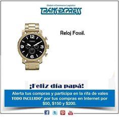 Papá espera lo mejor de nosotros... Este reloj seguramente le quedará perfecto. http://amzn.com/B0094M18R4  Costo del artículo puesto en El Salvador $168.05