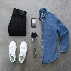 Basics Done Right. Learn To Build A Wardrobe With Basics And Never Run Out Of Outfit Ideas. #men's #fashion
