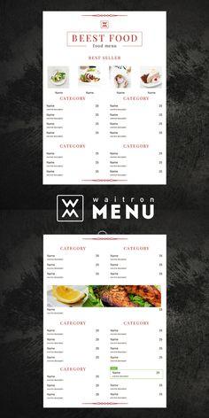 Restaurant menu template   Шаблон меню ресторана Restaurant Menu Design, Lunch Menu, Food Menu, Social Media, Names, Blog, Blogging, Social Networks, Social Media Tips