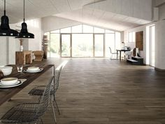 Castille Wenque Wood Plank Porcelain Tile - 8in. x 45in. - 100076611   Floor and Decor
