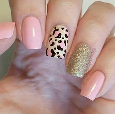 Trendy Animal Print Nail Art Ideas Go through our collection of the best animal print nail art ideas, and get those nails painted now. Pink Nail Art, Cute Acrylic Nails, Pink Nails, Gel Nails, Nail Polish, Shellac, Coffin Nails, Fancy Nails, Trendy Nails