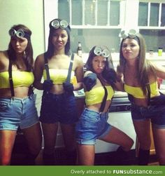 """From the """"Halloween is an excuse to be slutty"""" crowd- Slutty Minions. Sadly, I already own all I need for this. @Kristen Leigh"""