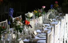Rustic flowers for the reception tables for a July wedding at Wedderburn Castle. Contact The Stockbridge Flower Company, Edinburgh for more details
