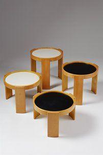Nest of tabled designed by Gianfranco Frattini for Cassina, Italy. 1970's. modernity.se