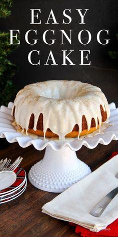 Easy Eggnog Bundt Cake Recipe. This egg nog dessert is a wonderful Christmas cake.