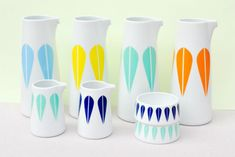The classic Arne Clausen lotus is brighter and more fun than ever, which is why we need like 20 of these creamer sets immediately. Genius hostess gift.