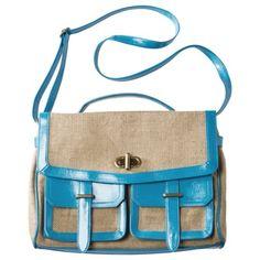 Xhilaration® Blue Burlap Bag