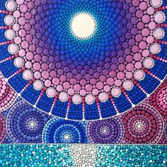 Sacred geometry moon painting by Elspeth McLean #fullmoon #sacredgeometry