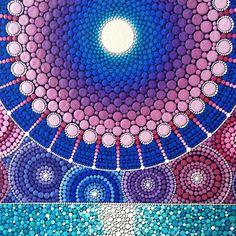 Sacred geometry moon painting by Elspeth McLean #fullmoon #sacredgeometry