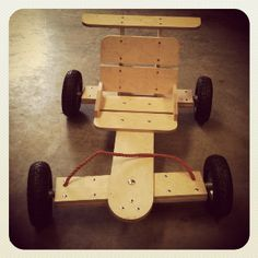 New wooden go-cart from the Cool Cart Company.