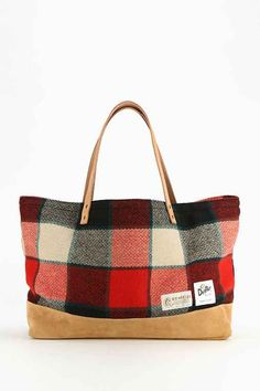 Dooney And Bourke Erica Red Tartan Plaid Hobo Bag Black