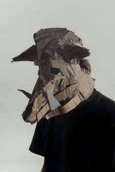 Looking for a cool and sustainable DIY project for Halloween? Check out these Cardboard Animal Masks by Josef Mrva and become a Darkness Engineer. Cardboard Animals, Cardboard Mask, Cardboard Sculpture, Animal Masks, Animal Heads, Arte Tribal, Animal Costumes, Masks Art, Mask Design