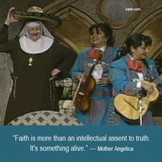 Watch Mother Angelica Live Classics, Tuesdays at 8 PM ET on EWTN. http://www.ewtn.com/channelfinder