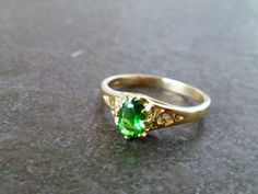 SALE Emerald ring gold ringwedding jewelry by CandySimpleJewelry
