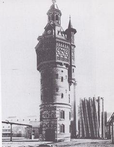Amsterdam, Haarlemmervaart  Watertoren bij de Wester Gasfabriek.