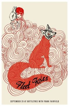 """Fleet Foxes Poster - This band provides the perfect autumnal tunes to spin on your turntable. My personal favorite is, """"He Doesn't Know Why""""."""