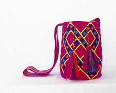 Wayuu Mochila bag - Large #Handmade #ShoulderBagMochila