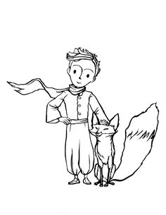 The Fox and The Little Prince coloring page is such a cute illustration to decorate and give to a freind or one of your parents. Little Prince Fox, Little Prince Tattoo, Recuerdos Primera Comunion Ideas, Disney Fantasy, Prince Drawing, Coloring Books, Coloring Pages, Prince Tattoos, Printed Pages
