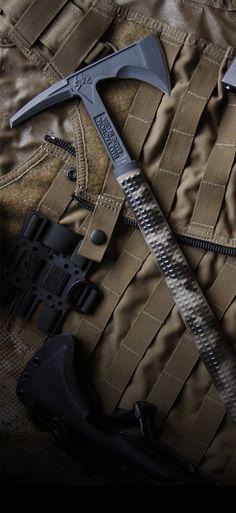 Kestrel Feather Tomahawk Tactical Axe - RMJ Tactical - Black handle