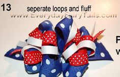 Red, white & blue bow