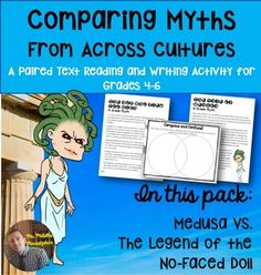 Greek Mythology and Native American legends may seem like the two very different genres, with little to no similarities, but you'd be wrong!This project asks students to compare myths and legends from two very different cultures, finding both the similarities and differences.