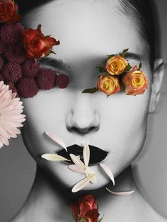Flower Girl - mixed media Photography by Martin Vallin Emotional Photography, Mixed Media Photography, Photography Flowers, Girl Photography, Flower Drawing Tutorials, Art Tutorials, Flower Girl Pictures, Drawing For Beginners, Beginner Drawing