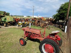 Plenty of old farm and ranch equipment is stored at the Gillespie County Fairgrounds by the Hill Country Antique Tractor  Engine Club, which is holding its annual show there on Friday and Saturday. Photo: Zeke MacCormack, San Antonio Express-Newss / San Antonio Express-News