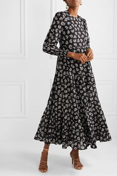 Find and compare Pip floral-print tiered fil coupé cotton maxi dress across the world's largest fashion stores! Fall Dresses, Nice Dresses, Next Clothes, Lace Up Sandals, Fall Trends, Fashion Outfits, Casual Outfits, Floral Prints, How To Wear