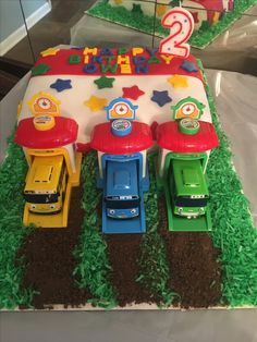 Tayo The Little Blue Bus Birthday Cake