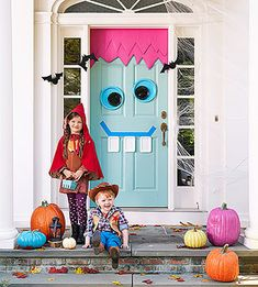 These Halloween Decorations are too cute to spook! Delight even the littlest trick-or-treater with these nine bright and kooky ideas.