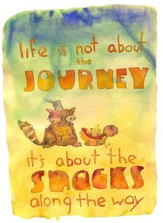 The Snacks Along the Way greeting card by echarrow on Etsy, $3.00
