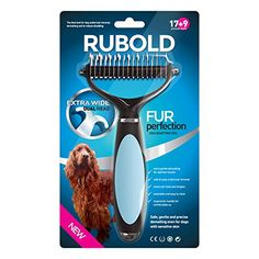 Dematting Tool for Dogs - The Best Dog Grooming Comb for Undercoat Removal - Professional Rake Brush for Small, Medium and Large Breeds with Medium and Long Hair Coats - Rubold Fur Perfection RUBOLD Premium Dog Products http://www.amazon.com/dp/B00STEJE8S/ref=cm_sw_r_pi_dp_mK7Wvb0WD13JN