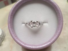 Women's Silver Plated 3 Stone Great Quality CZ Ring Gift Box Included size 6 #Unknown #ThreeStone
