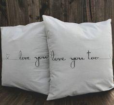 Wedding gifts, pillows,