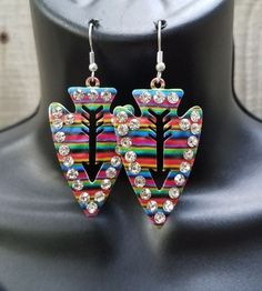 Cowgirl Gypsy Arrow head SERAPE EARRINGS  Southwestern Rodeo western  | Jewelry & Watches, Fashion Jewelry, Earrings | eBay!