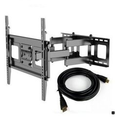 Fleximounts TV Wall Mount with 32 to Mounting Bracket, Full-motion, and Hdmi Cable to Full-motion TV Wall Mount), Black, Size 30 - 39 Inches Tv Bracket, Mounting Brackets, Tall Tv Stands, Swivel Tv Stand, New Cinema, Pedestal Stand, Big Screen Tv, Cable Television, Corner Tv