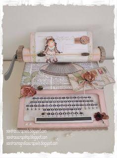 Typewriter template Sandra's Scrapshop