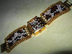 Часы леопардовые   biser.info - всё о бисере и бисерном творчестве
