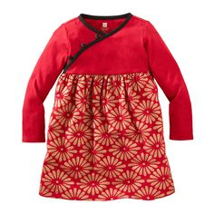 Deco Lantern Sparkle Dress - China Red by Tea Collection $35