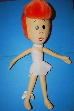 16inch Vintage Hanna Barbera Wilma Flintstone Stuffed Cartoon Plush Toy