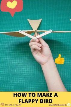 Diy Crafts Hacks, Diy Crafts For Gifts, Diy Home Crafts, Diy Arts And Crafts, Fun Crafts, Bird Crafts, Paper Folding Crafts, Paper Crafts For Kids, Diy Paper