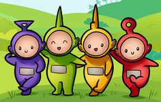 draw teletubbies, chibi teletubbies