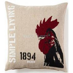 Интерьерная подушка красный петух 1894