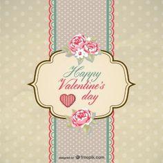 pasado de moda de San Valentín tarjetas de vectores