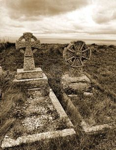 Celtic crosses, graveyard near Tintagel. Tintagel or Trevena is a civil parish and village situated on the Atlantic coast of Cornwall, England, United Kingdom. The population of the parish is 1,820 people, and the area of the parish is 4,281 acres.