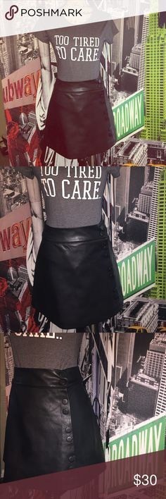 ZARA FAUX LEATHER SKIRT ❤️NWOT I've never worn this! I hate I can't fit into it! A-line skirt from Zara in perfect condition. Happy shopping! Zara Skirts A-Line or Full