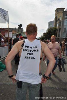 #powerbottomsforjesus #folsom2012 Making an appearance