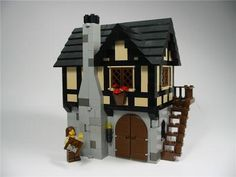Carpenter's Shop and Cart: A LEGO® creation by James Brink : MOCpages.com